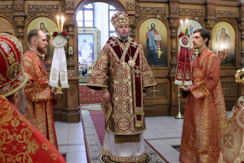 Пасхальная великая вечерня в Вознесенском Кафедральном соборе города Касимова