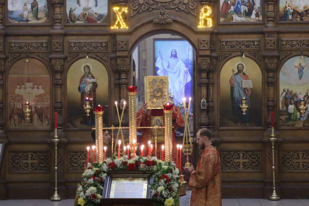 Всенощное бдение в канун дня памяти Собора Касимовских святых в Вознесенском Кафедральном соборе города Касимова