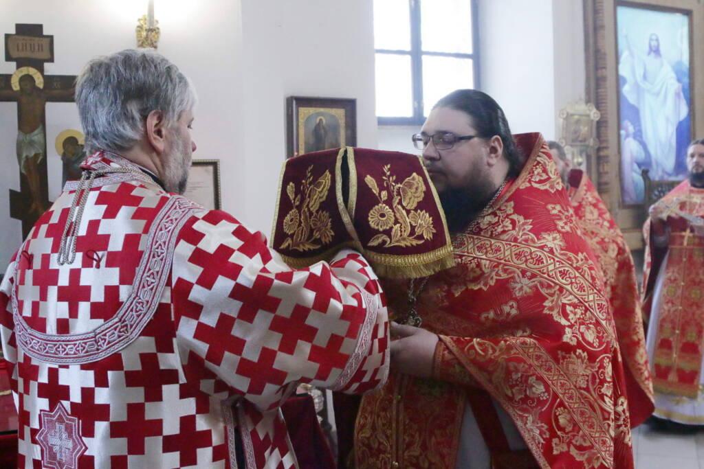 Божественная Литургия в день памяти Собора Касимовских святых в Вознесенском Кафедральном соборе города Касимова