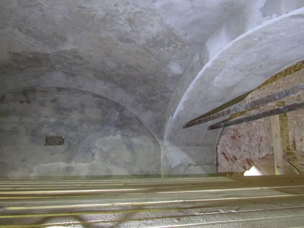 В храме Покрова Пресвятой Богородицы с. Рубецкое продолжаются восстановительные работы в приделе Архистратига Михаила