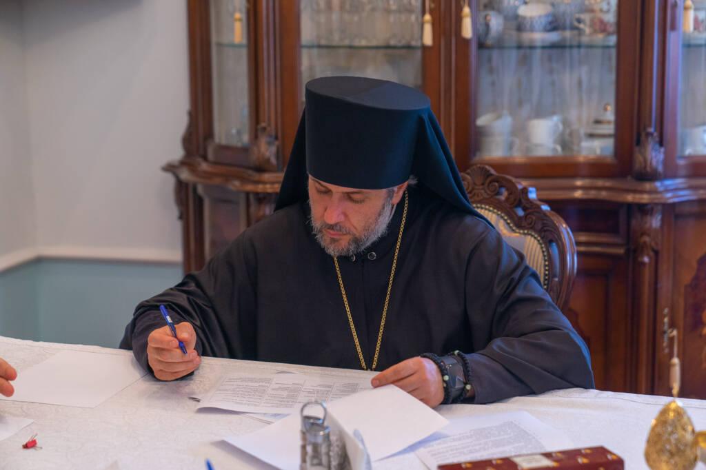 Преосвященнейший епископ Василий принял участие в Архиерейском совете Рязанской митрополии