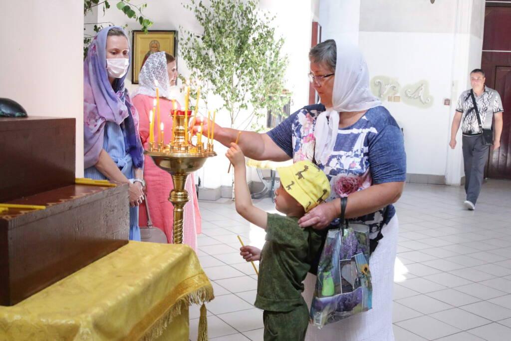 Божественная Литургия в день Святой Троицы в Вознесенском Кафедральном соборе города Касимова