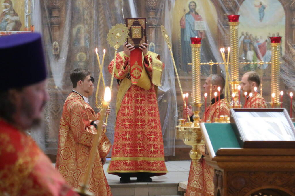 Всенощное бдение в канун Недели 6-й по Пасхе, о слепом в Вознесенском Кафедральном соборе города Касимова