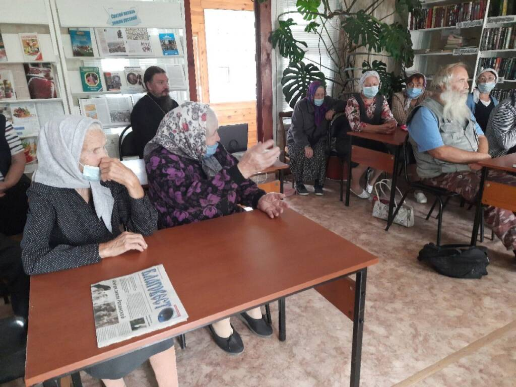 В Ерахтурской библиотеке состоялся вечер памяти митрополита Рязанского и Касимовского Симона (Новикова) (1928-2006)