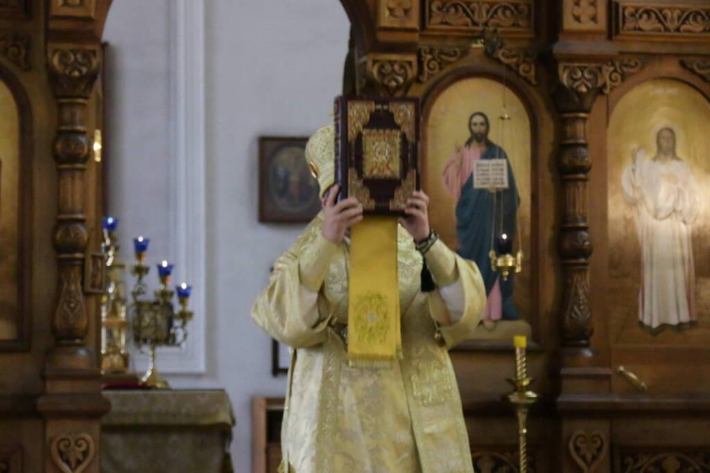 Всенощное бдение в канун в канун Недели 9-й по Пятидесятнице и дня памяти апостола Матфия в Вознесенском Кафедральном соборе города Касимова