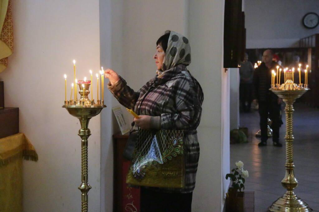 Всенощное бдение с чином Воздвижения Честнаго Креста Господня в Вознесенском Кафедральном соборе города Касимова