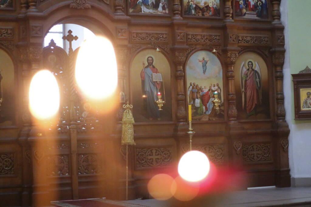 Всенощное бдение в канун в канун Недели 11-й по Пятидесятнице и отдания праздника Успения Пресвятой Богородицы в Вознесенском Кафедральном соборе города Касимова