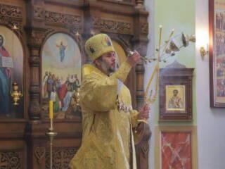Божественная Литургия в Неделю 16-ю по Пятидесятнице в Вознесенском Кафедральном соборе города Касимова