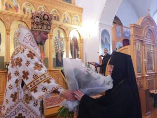 Божественная Литургия в день памяти в день памяти священномученика Киприана и мученицы Иустины в Милостиво-Богородицком женском монастыре п. Кадома